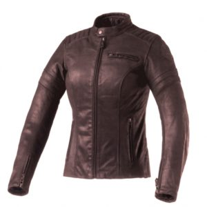 Clover Bullet Pro Lady Leather Jacket Marrone
