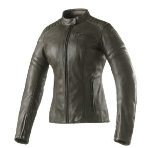 Clover Bullet Pro Lady Leather Jacket Olivew
