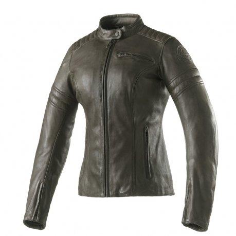 Clover Bullet Pro Lady Leather Jacket Olivew