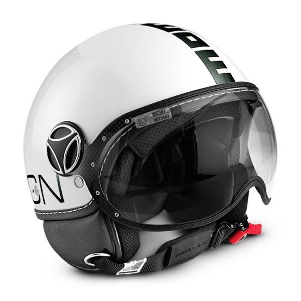 MOMO fgtr classic white jet helmet
