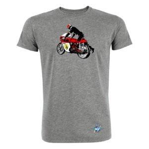MV Agusta RC Vintage Rider T-Shirt grey