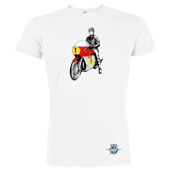 MV Agusta RC Vintage Rider T-Shirt White