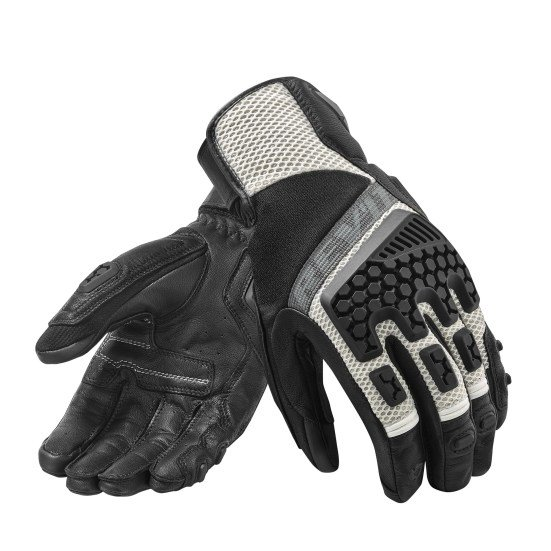 Revit Sand 3 Touring Gloves black white