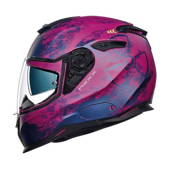 Nexx SX.100 Toxic Full Face Helmet fuchsia