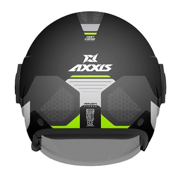 AXXIS RAVEN Jet Helmet Back