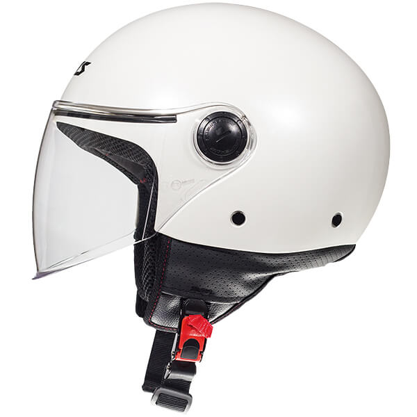 AXXIS Square Jet Helmet White Pearl