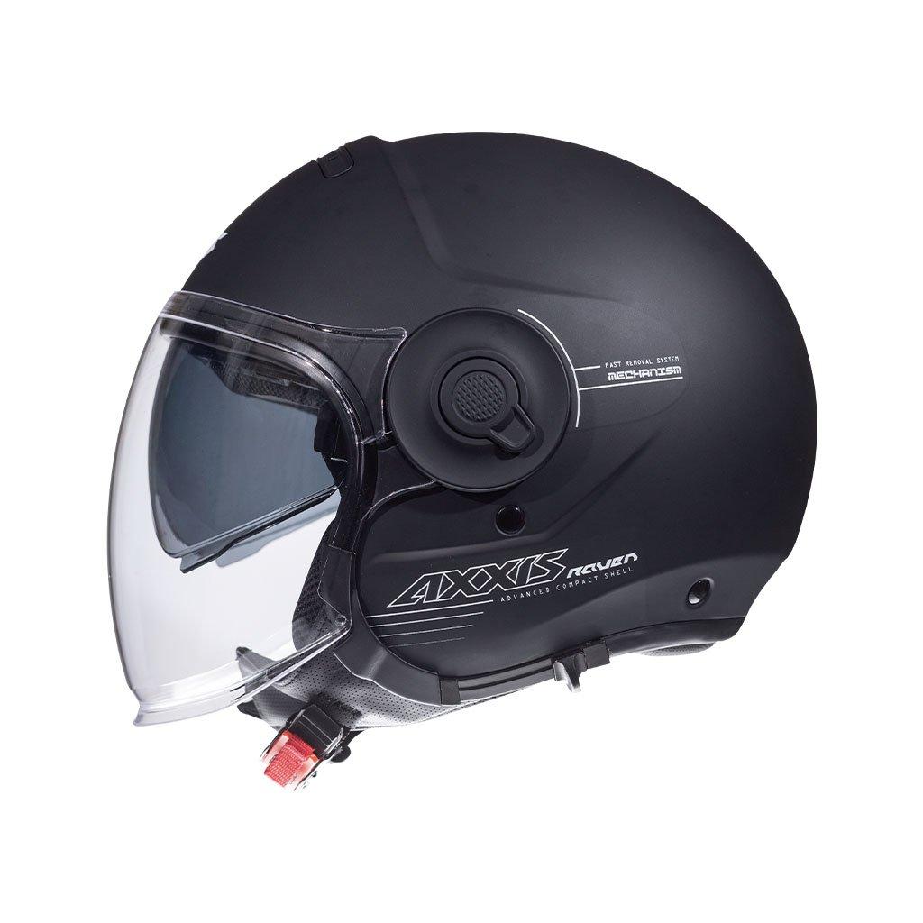 AXXIS Raven Jet Helmet Black