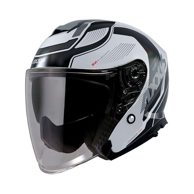 AXXIS Mirage SV Jet Helmet White Black